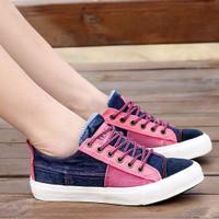 Sepatu Sandal Wanita Casual Kets Pink SDS92 EXCLUSIVE