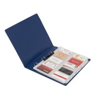 Bantex Business Card Album 400 Cards A4 Blue #5599 01