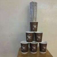 Paper Cup (Gelas Kertas) 8 oz - 50 Pcs