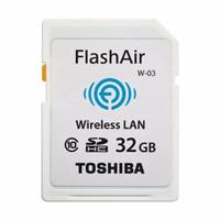 Toshiba Flash Air Wireless SD Card Class 10 32GB WIFI Memory DSLR