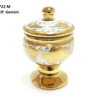 Medalion Jar CR722M Motif Gemini, TOPLES CANTIK VICENZA, Garansi KIRIM