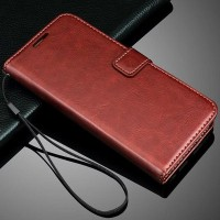 Flip Cover KULIT Lenovo A6000 A6010 Plus Leather Case Casing Dompet HP