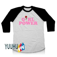 Kaos YUUHU Raglan - Girl Power Pink