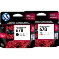 TINTA / CATRIDGE HP 678 BLACK / COLOR ORIGINAL 100%