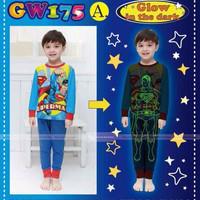 setelan baju tidur anak superman