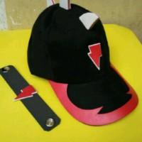 Boboiboy Halilintar (Baju+celana+Topi+gelang+pedang)