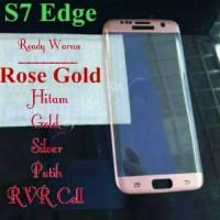 Jual Tempered Glass Full Layar Samsung Galaxy S7 EDGE Warna Rose Gold Cover Murah