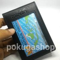 nametag kulit asli / id card holder /nametag bank mandiri/dompet kartu