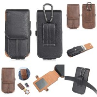 harga Vertical Leather Belt Clip Holster Pouch Card Slot Carabiner 5,5 Inch Tokopedia.com