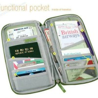 Dompet Passport Organizer Card Holder Muat Banyak Murah