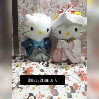 Jual Boneka couple Hello Kitty wedding edisi japan / jepang import Murah