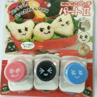 Jual Nori Puncher 3 Faces Food Mold Vegetable Cutter Cetakan Bento Murah