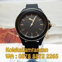 JAM TANGAN WANITA PUMA PU104062007 DIAMOND BLACK GOLD ORIGINAL