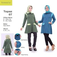 Baju Atasan Vemmella Topaz 07 - Blus Kaos Muslim Remaja Dewasa