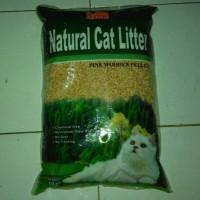 Natural Cat Litter 10kg Media Pup Kucing-Kelinci-Anjing Khusus Gosend