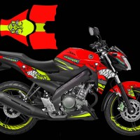 Decal stiker New Vixion AGV Pista Shark Red