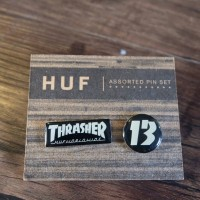 HUF x Thrasher Pin Set Original