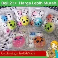 Paket Squishy Pouch Isi 5, Squishy Panda Bun, Bun Jumbo Medium & Mini