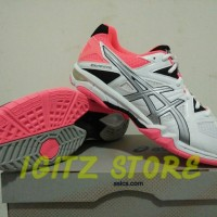 [Original] Sepatu Volley / Basket ASICS GEL-TACTIC White/Silver/Orange