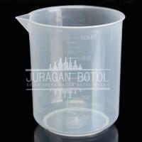 Beaker Glass Plastik CHINA 500 ml / cc   Gelas Beker 500ml / 500cc