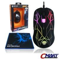 Rexus Xierra GT3 Gaming Mouse + Free Mousepad Gamer - RXM-GT3