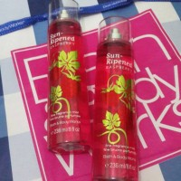 bbw bath and body works sun ripened raspberry body mist 236 ml