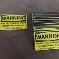 Sticker WARNING ALARM, stiker untuk alarm rumah online GSM/REMOTE/WIFI