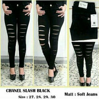 Jual High waist jeans / jeans sobek wanita / celana jeans wanita / jogger Murah