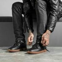 NEW sepatu geoff max original AUTHENTIC leather black gum 2017