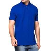 POLO Kaos Kerah biru Polos Baju Pria Cowok Lacos Kaos Pendek distro