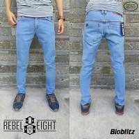 Celana Jeans slimfit Rebel Eight / Denim Rebel 8 / Rebel8 biru muda