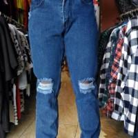 celana panjang Ripped hurley Jeans slimfit levis sobek biru dongker