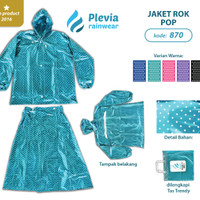 Jas Hujan Rok Polkadot Plevia ROK POP kode 870 Stelan ROK PEREMPUAN