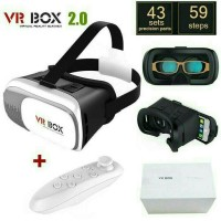 VR Box + Remote Control Virtual Reality Kacamata 3D HP + Remot Game