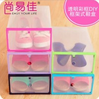 DIY Transparent Shoe Box Kotak Sepatu Transparan Multifungsi Shoes Box