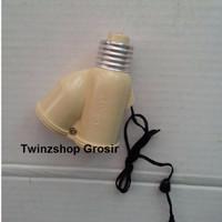 Harga terbatas fitting tarik e27 fitting lampu dobel model tarik   antitipu.com