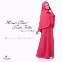 Gamis Hijab Alsa Gamis Fathia Merah Bata Size M, L