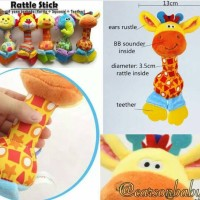 Happy Monkey Rattle Stick Teether / Mainan Bayi