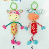 Happy Monkey Rattle Gantungan Teether / Gantungan Stroller