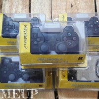 gamepad / joystick / stik / stik playstation 2 PS2 PC wireless hitam