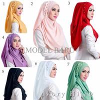 Model Terbaru Instan Yarra By Ivory Hijab / Jilbab Pashmina Instant