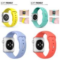 Wristband Sport Jam Band Belt Mint Apricot Lilac Apple Watch 42mm 38mm