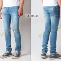 Jual Celana jeans skinny pria sobek / robek skiny ripped cowok premium HQ Murah