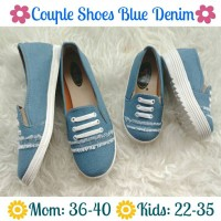 Jual couple shoes mom n kid blue denim / sepatu couple ibu anak Murah