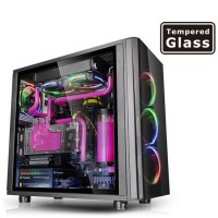 Thermaltake VIEW 31 TG RGB / BLACK / WIN / SGCC / Tempered Glass X2