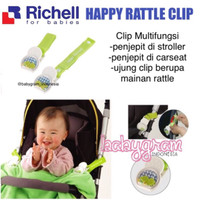 Jual Richell Happy Rattle Clip / Mainan Stroller / Aksesoris Stroller Murah