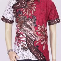 Model Baju Batik Pria | Batik Kantor | Batik Modern Kantor Warna Merah