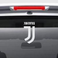 Jual Stiker Bola Logo New Juventus Sticker Mobil Siluet Lambang Juve Baru Murah