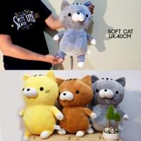 boneka cat kucing soft korea impor animal 40cm imut big lembut banget
