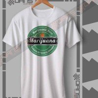 Kaos Cowok / Cewek - T Shirt - Kaos MARIJUANA FUNNY BEER LOGO - Tshirt